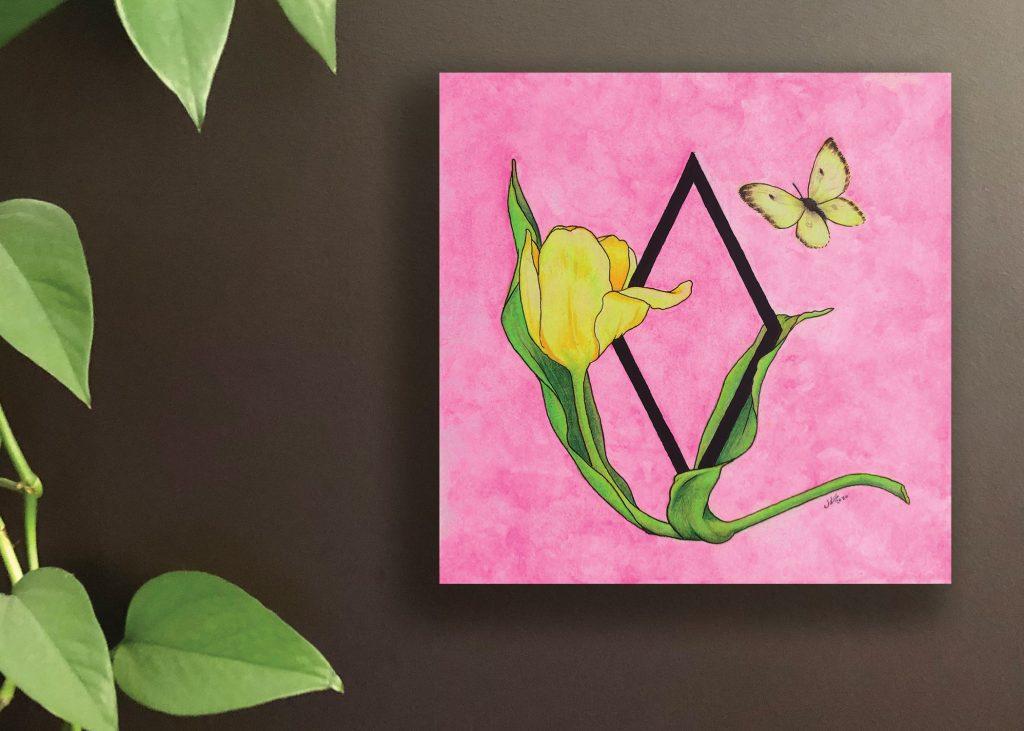 Yellow Tulip Art