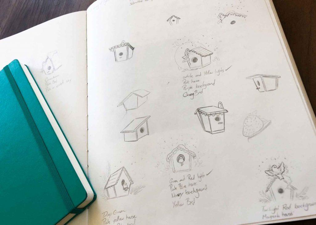 Birdhouse Sketch
