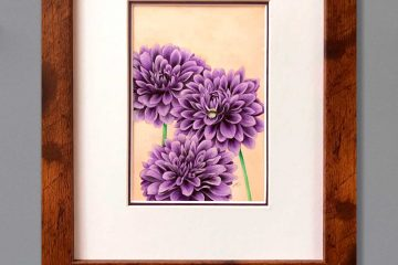 Purple Dahlia Art