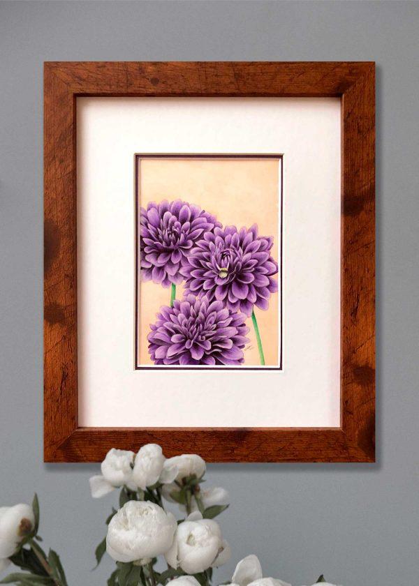 Purple Dahlia Art
