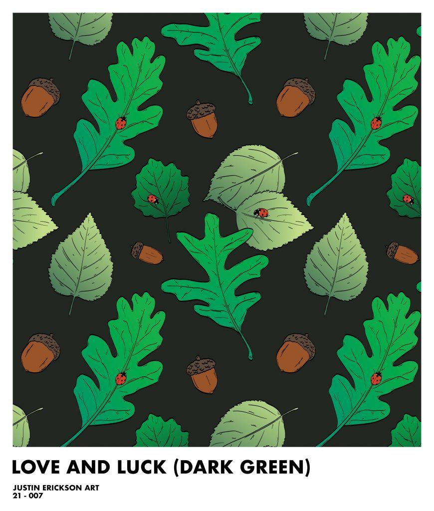 Ladybug Pattern Dark Green
