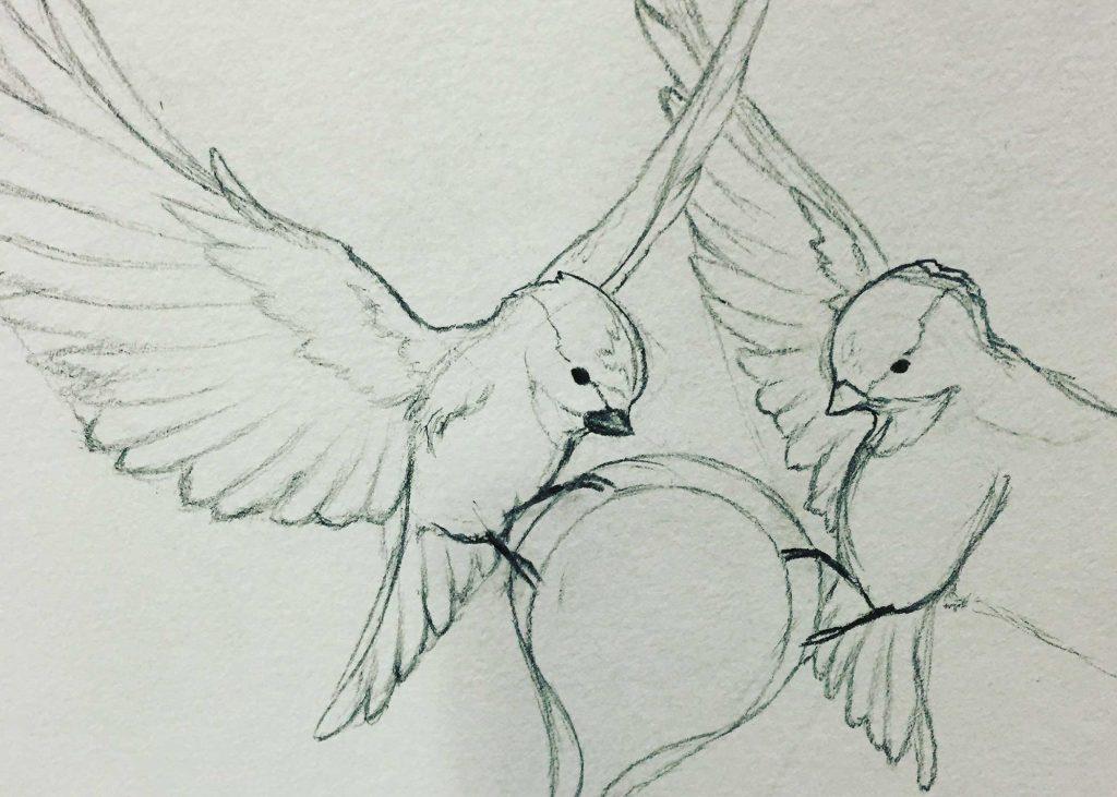 Bird Art Sketch